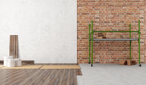 Beispiel: Wand und Boden - vorher - nachher